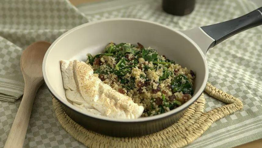 quinoa met rozijnen